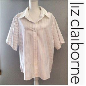 EUC Liz Claiborne button down shirt size 22W